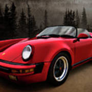 Black Forest - Red Speedster Poster by Douglas Pittman