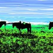 Black Horses ... Montana Art Photo Poster