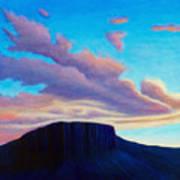 Black Mesa Sunset Poster
