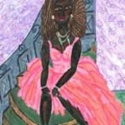 Black Peony Poster