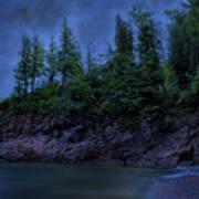 Black Rocks, Dark Sky Poster