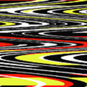 Black Yellow Red White Abstract Poster