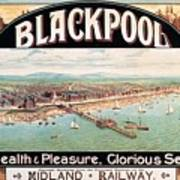 Blackpool, England - Retro Travel Advertising Poster - Seaside Resort - Vintage Poster Poster