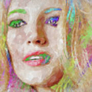 Blake Lively Watercolor Poster