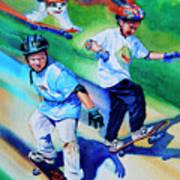 Blasting Boarders Poster by Hanne Lore Koehler