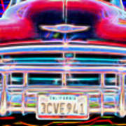 Blazing Chevy Poster