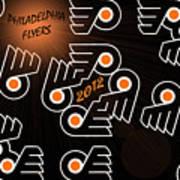 Bleeding Orange And Black - Flyers Poster by Trish Tritz