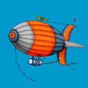 Blimp Orange Poster