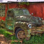 Blind In One Eye 1947 Chevy Flatbed Truck Art Poster