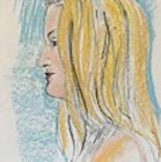 Blonde With Long Hair Poster