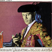 Blood And Sand, Rudolph Valentino, 1922 Poster