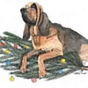 Blood Hound Christmas Poster