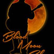 Blood Moon Blues T Shirt Poster