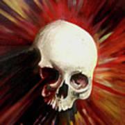 Blood Skull Poster