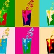 Bloody Mary Pop Art Panels Poster
