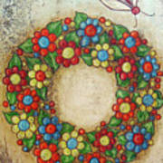 Blooming Wreath Poster
