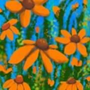 Blooms Of Orange Poster