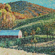 Blowing Rock Impressionist Poster