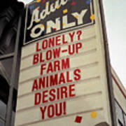 Blowup Farm Animals Sign Poster