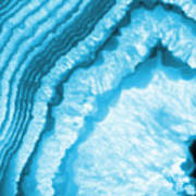 Blue Agate Slice Poster