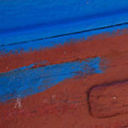 Blue And Red Abstract Poster