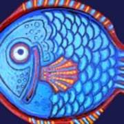 Blue And Red Fish Poster