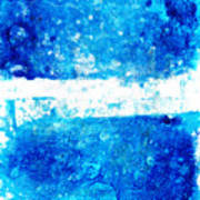 Blue And White Modern Art - Two Pools 2 - Sharon Cummings Poster