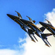 Blue Angel Fly By Poster