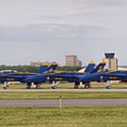 Blue Angels Flight Line Poster