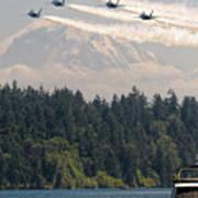 Blue Angels Over Lake Washington Poster