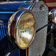 Blue Antique Auto Poster