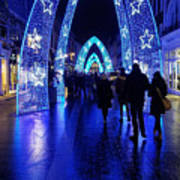 Blue Archways Of London Poster