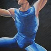 Blue Ballerino Poster
