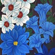 Blue Bell Flowers Poster