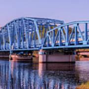 Blue Bridge Georgia Florida Line Poster