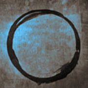 Blue Brown Enso Poster