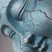 Blue Buddha Of Serenity Poster