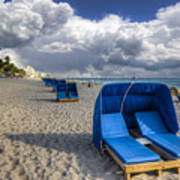 Blue Cabana Poster