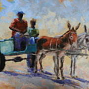 Blue Cart Poster