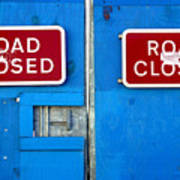 Blue Closure Poster