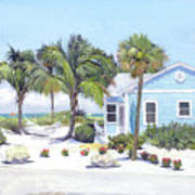 Blue Cottage On Siesta Key Beach, Access 3 Poster