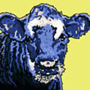 Blue Cow Poster