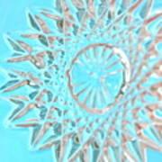 Blue Crystal Snowflake Poster