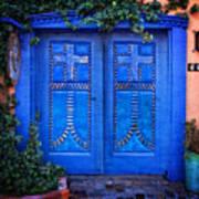 Blue Door In Old Town Poster