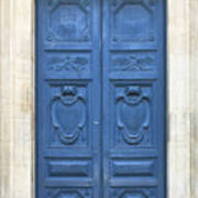 Blue Door In Paris Poster