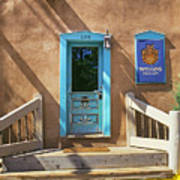 Blue Door On Canyon Road Poster