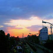 Blue Evening Sky Poster