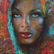 Blue Eyes Dark Oriental Poster