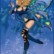 Blue Fairy Of Water Poster
