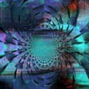 Blue Fleur Poster